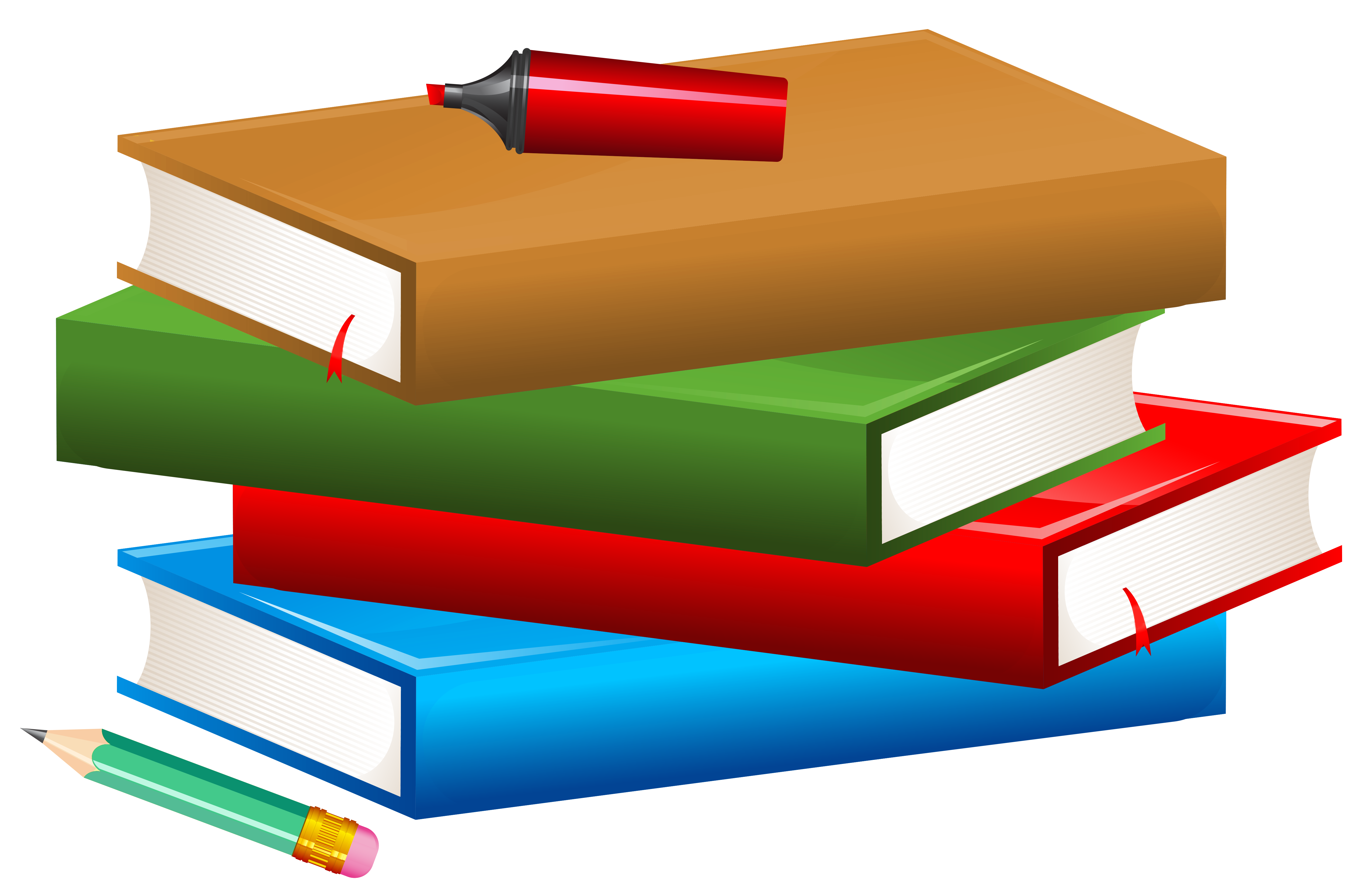 5093x3320 Books With Pencil And Marker Png Clipart Imageu200b Gallery
