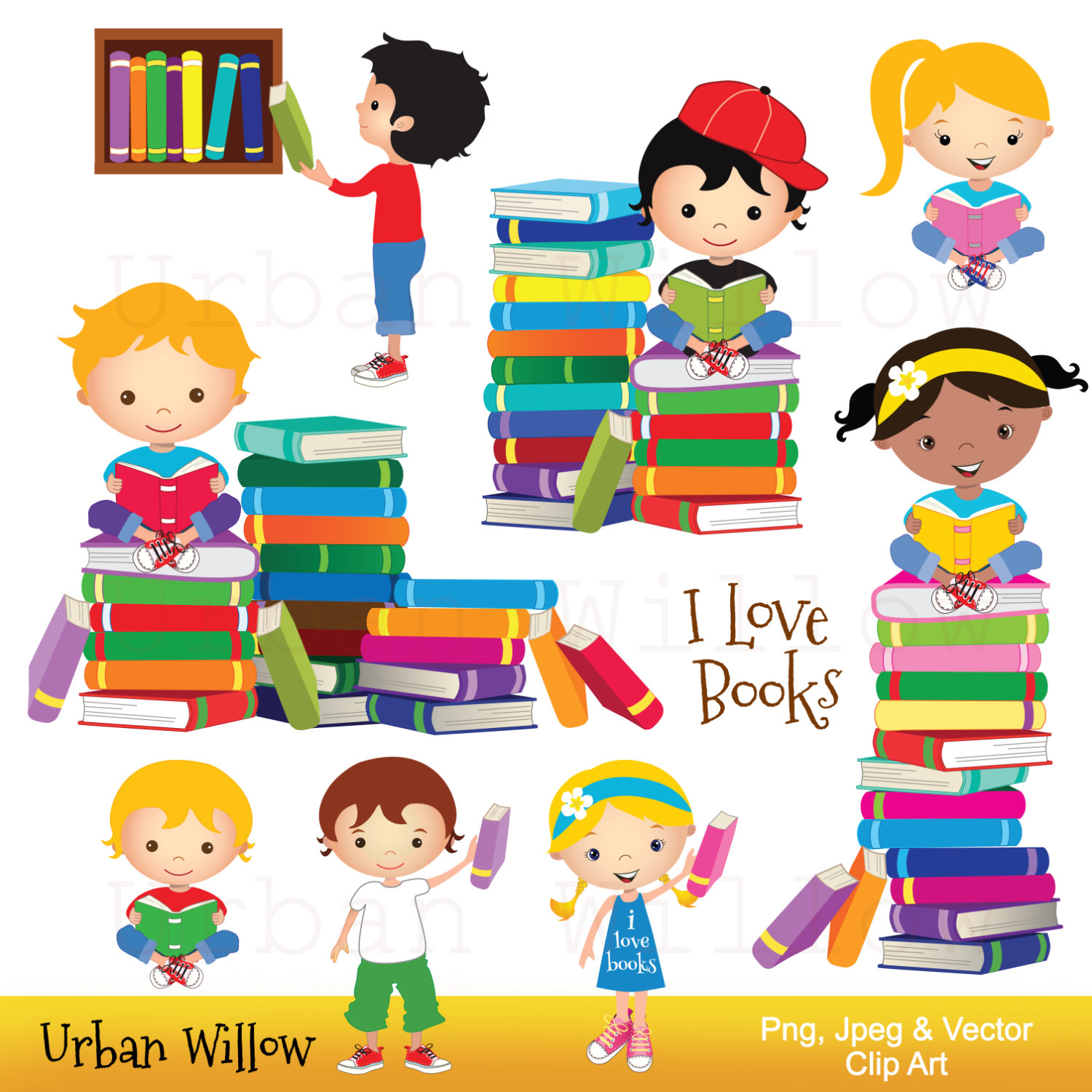 1500x1500 Clip art kids reading books, Graphics school kid, Cute graphics