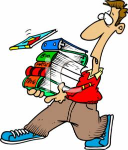 257x300 Clipart Picture Of A Teen Carrying A Stack Of Text Books