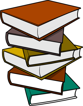 329x423 Free Stack Of Books Clip Art