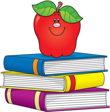 440x448 School Books Clipart