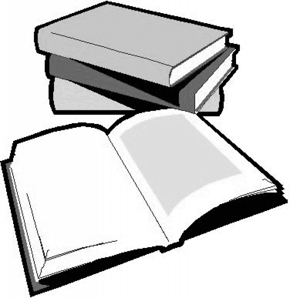 994x1024 Book clipart school work