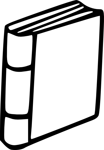 414x596 Free Books Clipart Black And White Image
