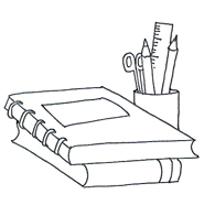 185x186 Pencil clipart school book