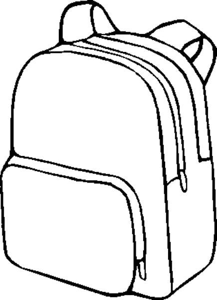 435x600 School Bag Clipart Black And White Letters Format