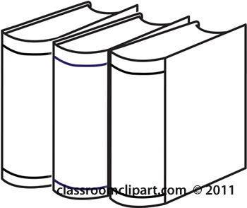 350x294 School Clipart outline of three books