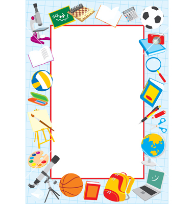 380x400 School Border School Clip Art Borders Border Vector Art Download