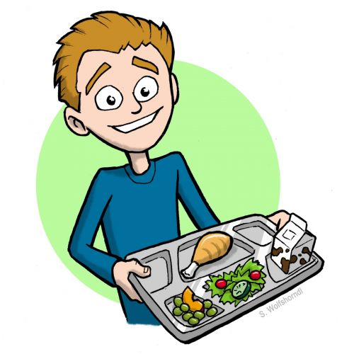 500x500 School Lunch Tray Clipart Boy