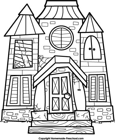 374x456 House Black And White Building Clipart Black And White
