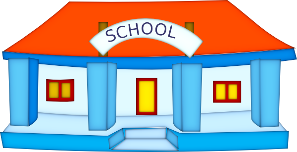 600x307 School Building Black And White Clipart