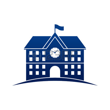 School Building Icon Clipart