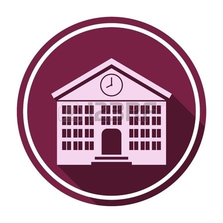 450x450 School Building On White Background. Building University
