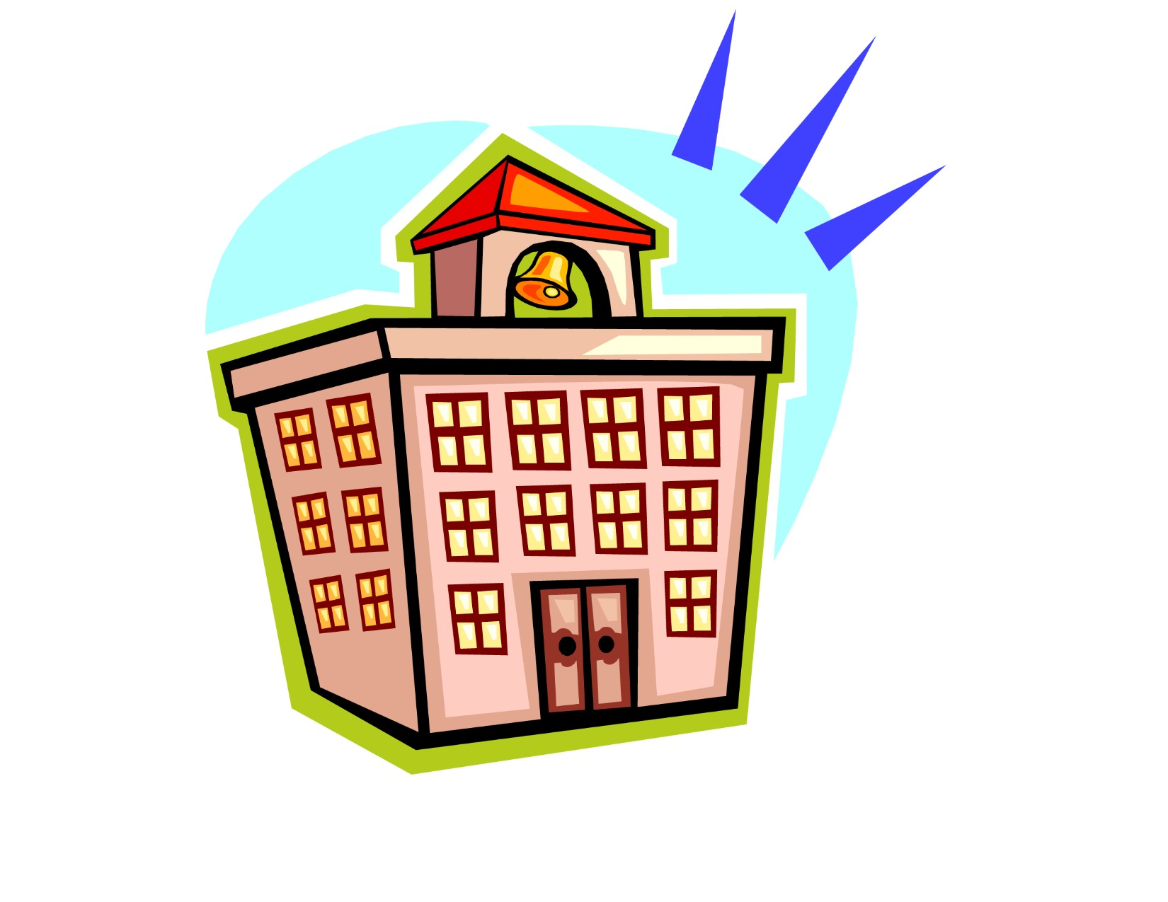 1650x1275 College Building Clipart Image