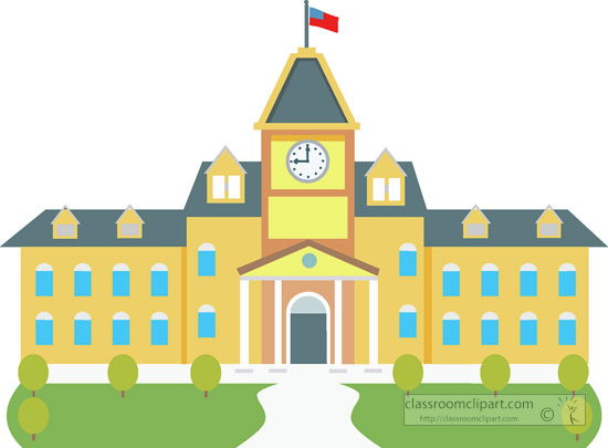 Animated school. Buildings clipart free download