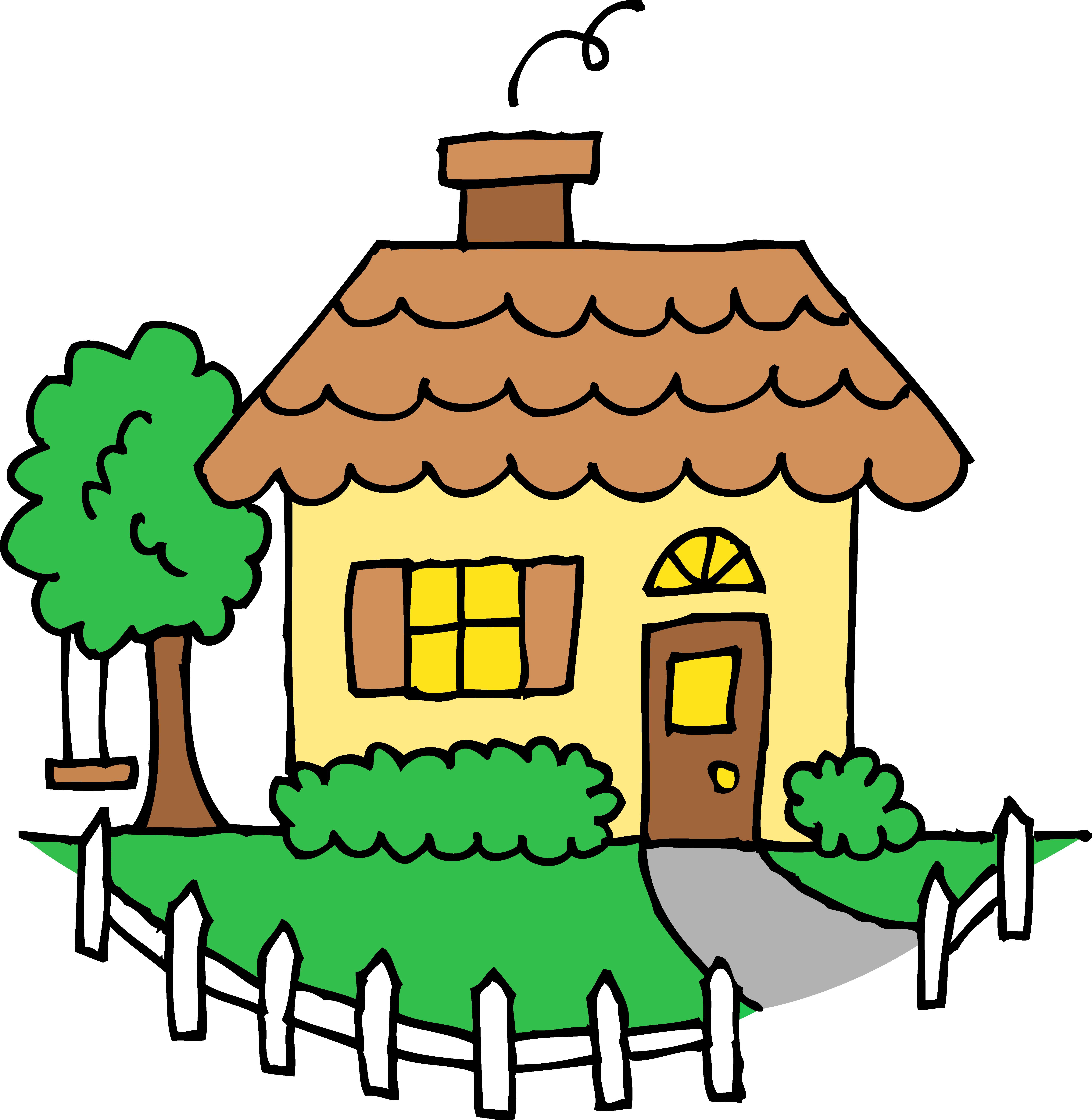 5765x5916 Little Yellow House Clipart