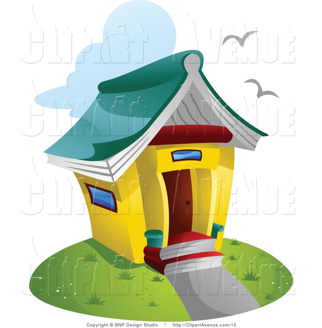 1024x1044 Book House Clipart