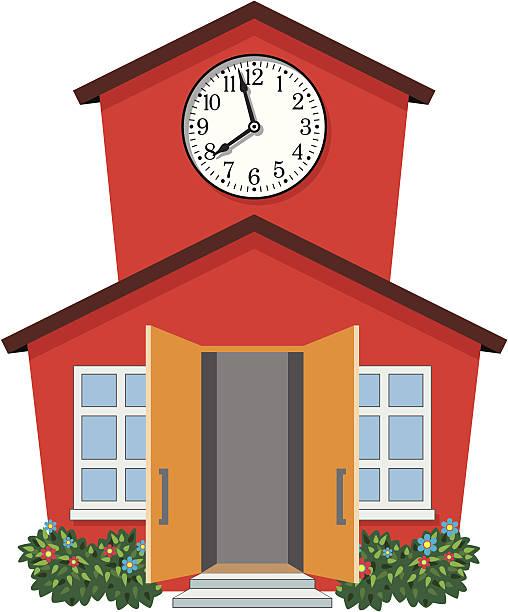 508x612 Building Open Door Clipart