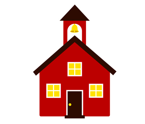 500x430 Building Clipart Red