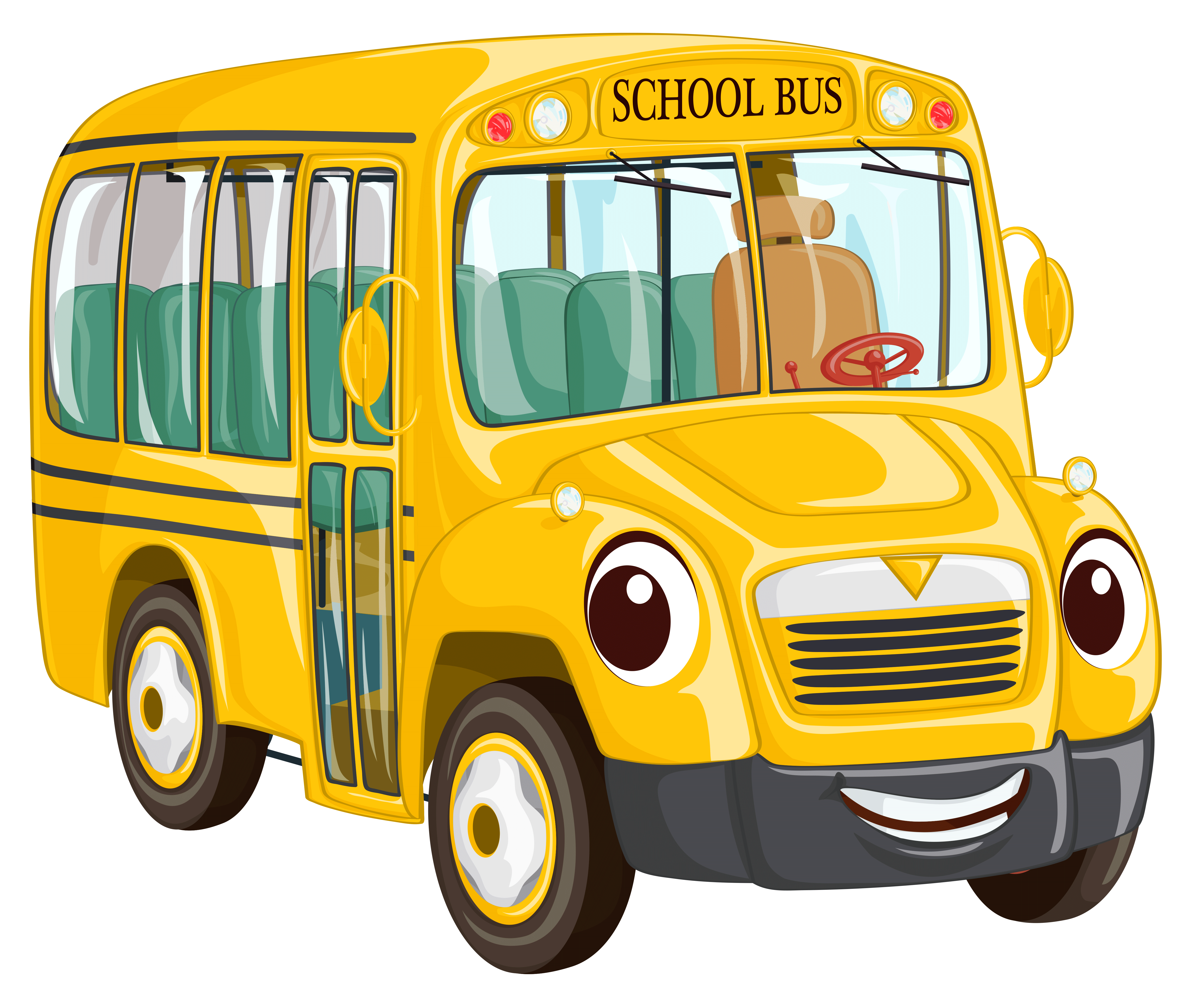 5210x4440 Cartoon bus PNG Clipart