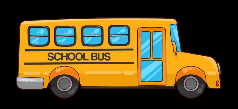 823x378 School Bus Clip Art