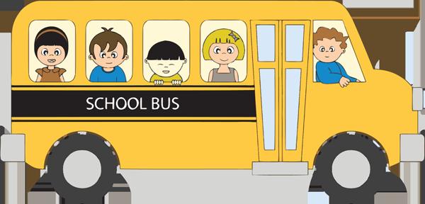 600x288 School Bus Clip Art For Kids Free Clipart Images 3