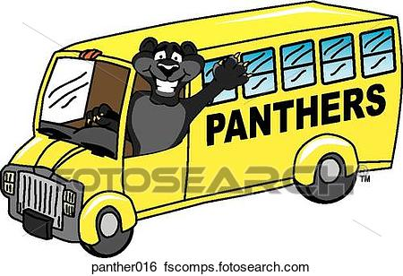 450x308 Stock Illustration Of Panther Driving School Bus Panther016