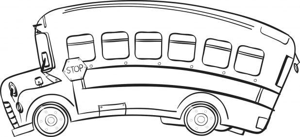 618x282 Coloring Amusing School Bus Printable. Magic School Bus Digestion