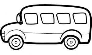 302x181 Drawn Bus Black And White