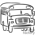 120x120 Royalty Free Black And White Outline Of A School Bus 382631 Vector