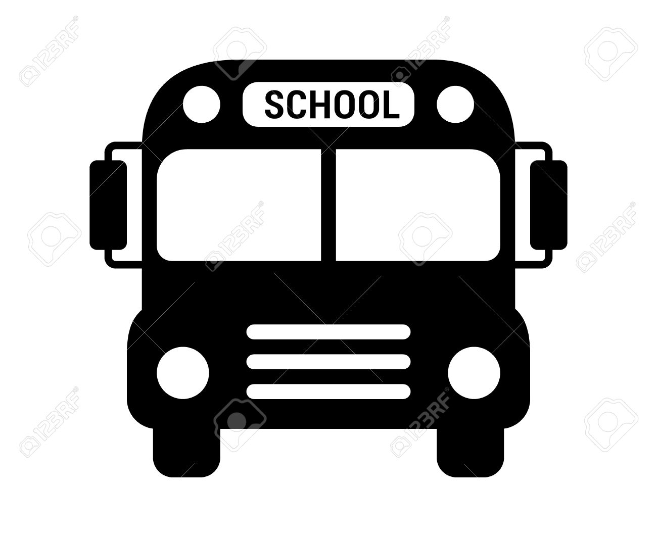 1300x1063 School Bus Or Schoolbus Transportation Vehicle With Label Flat