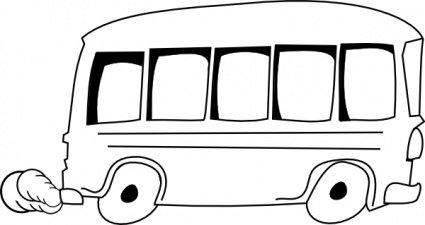 425x225 School Bus Outline, Vector Image