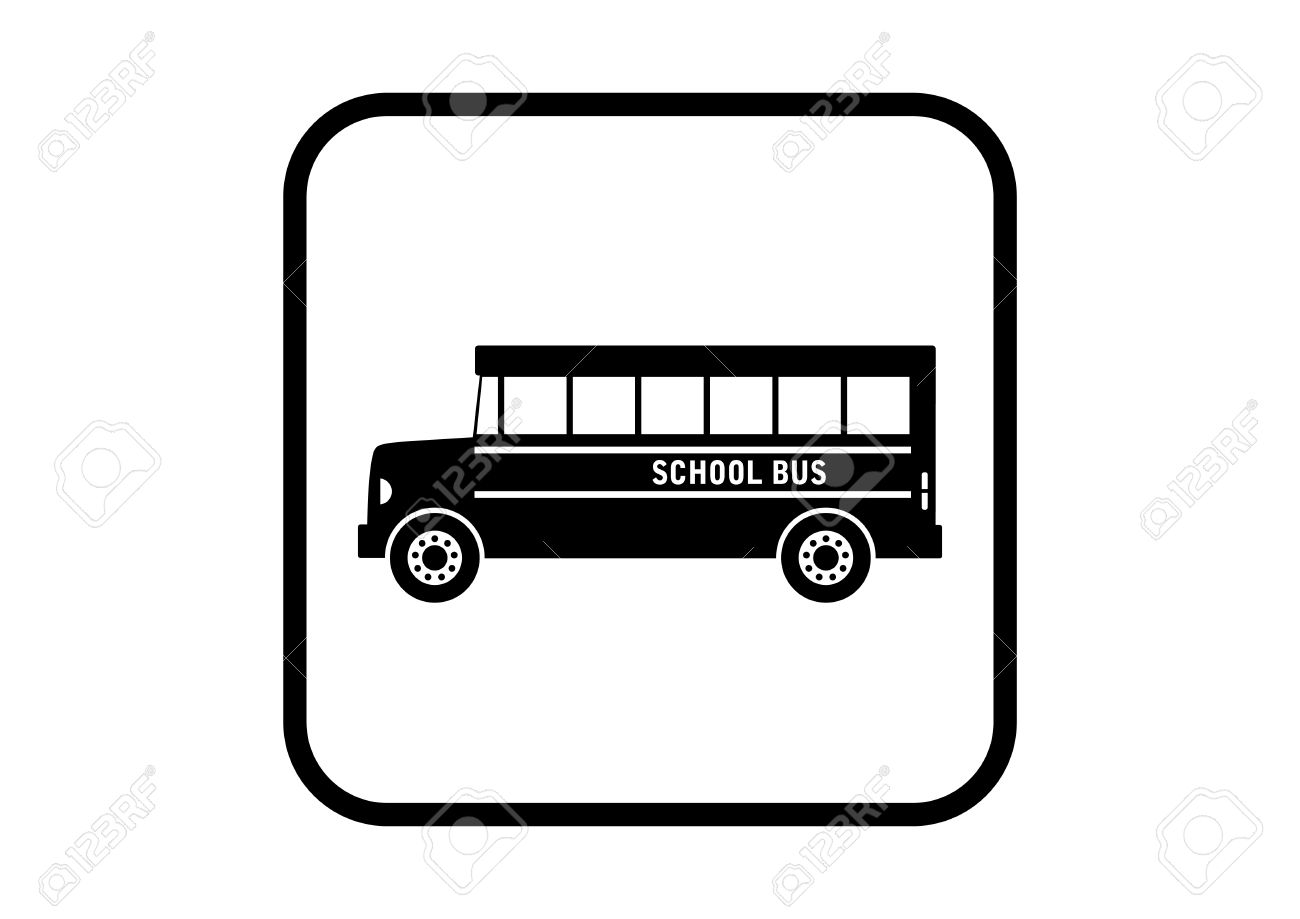 1300x919 School Bus Vector Icon On White Background Royalty Free Cliparts