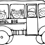 150x150 Black And White School Bus Clipart School Bus Black And White