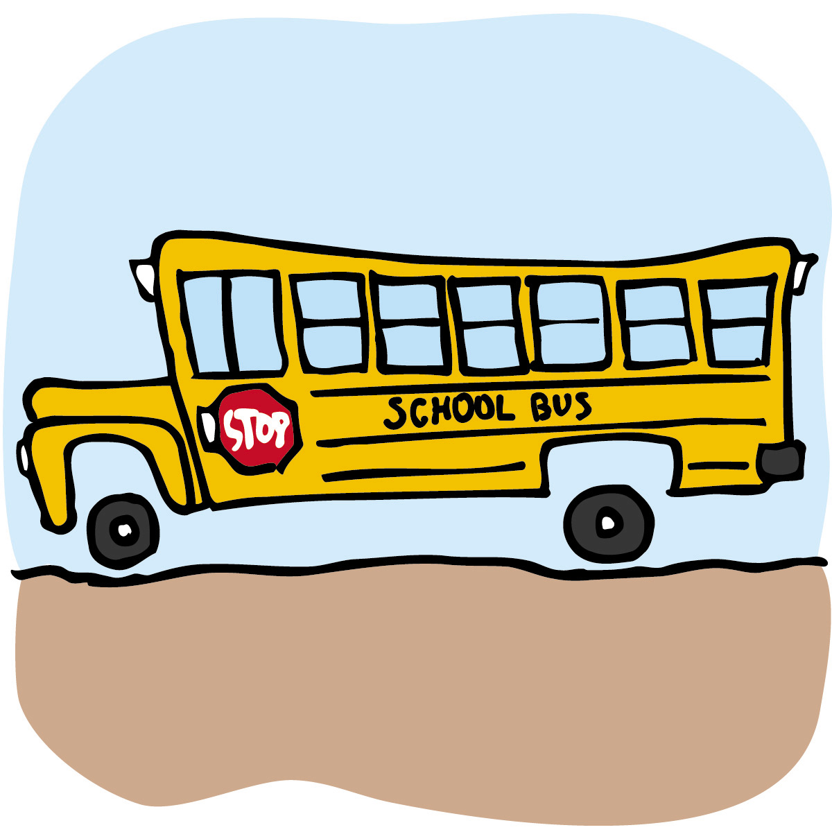 1200x1200 Cartoon School Bus Clipart