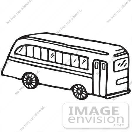 450x450 Clipart Of A School Bus In Black And White