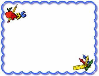 337x260 Free Clipart Borders School