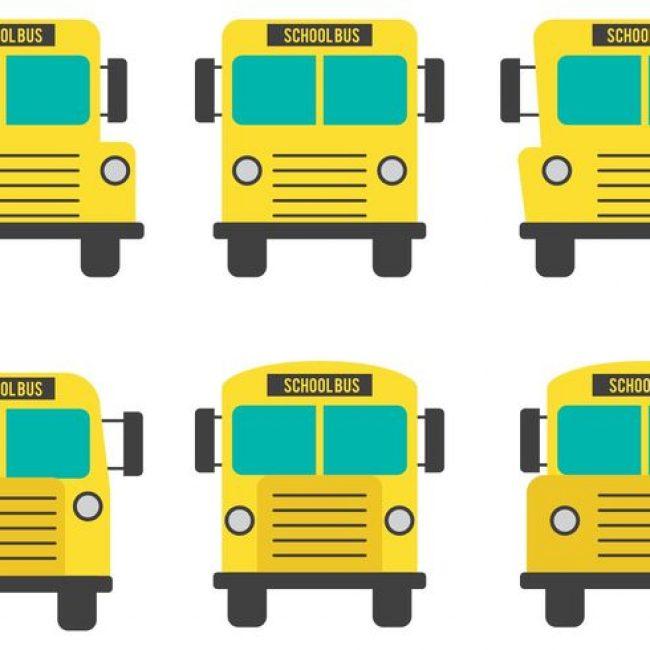 650x650 Free Vector Front View School Bus Vectors