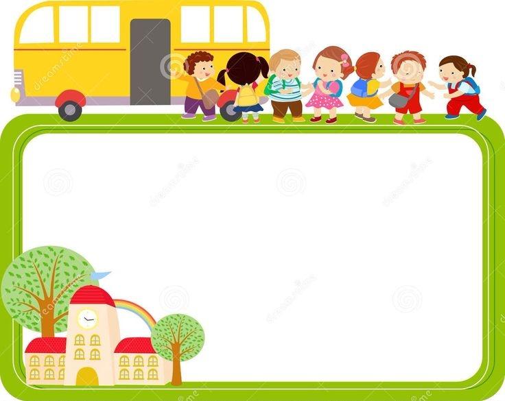 736x585 School Bus Border Clipart