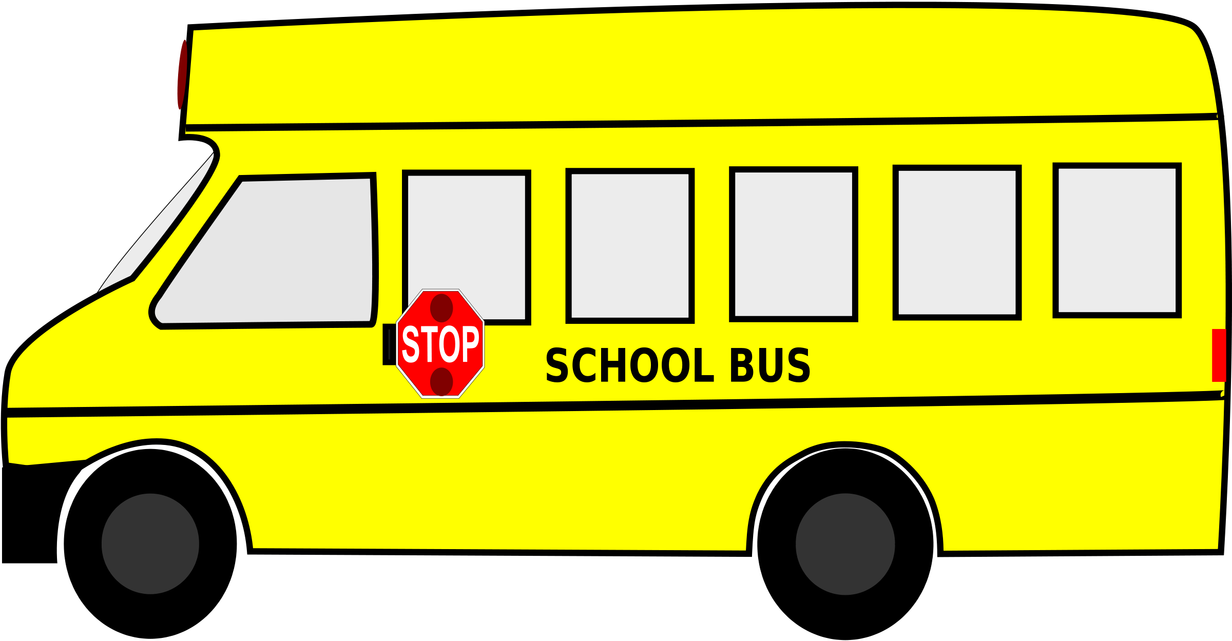 2400x1249 School Bus Black And White School Bus Clip Art Black And White