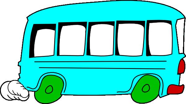 600x338 Blue Bus Clip Art