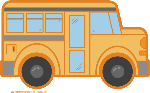 607x378 School Bus Clip Art Black And White Free Clipart 2