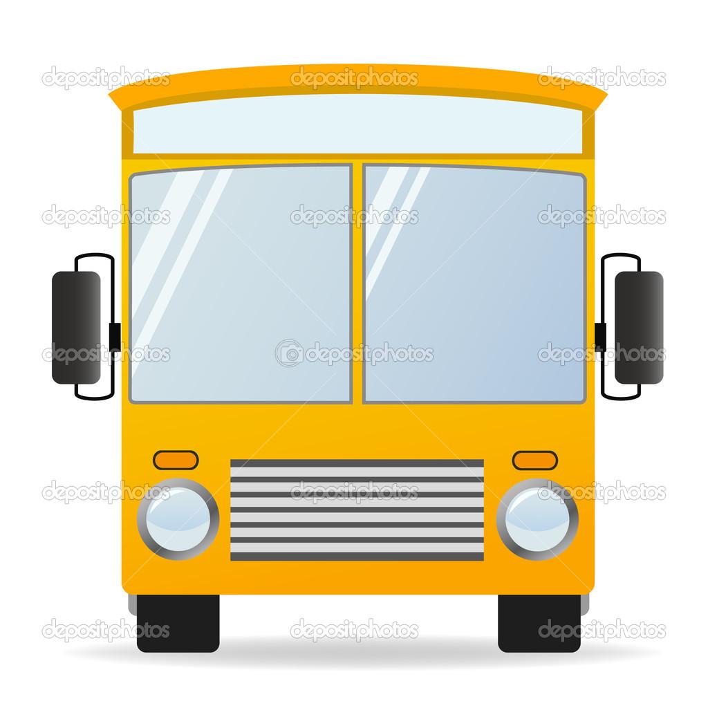 1024x1024 School Bus Front View Clipart