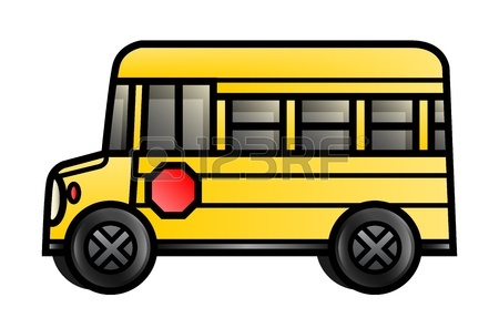 450x287 Illustration Of A Long Cartoon School Bus Royalty Free Cliparts
