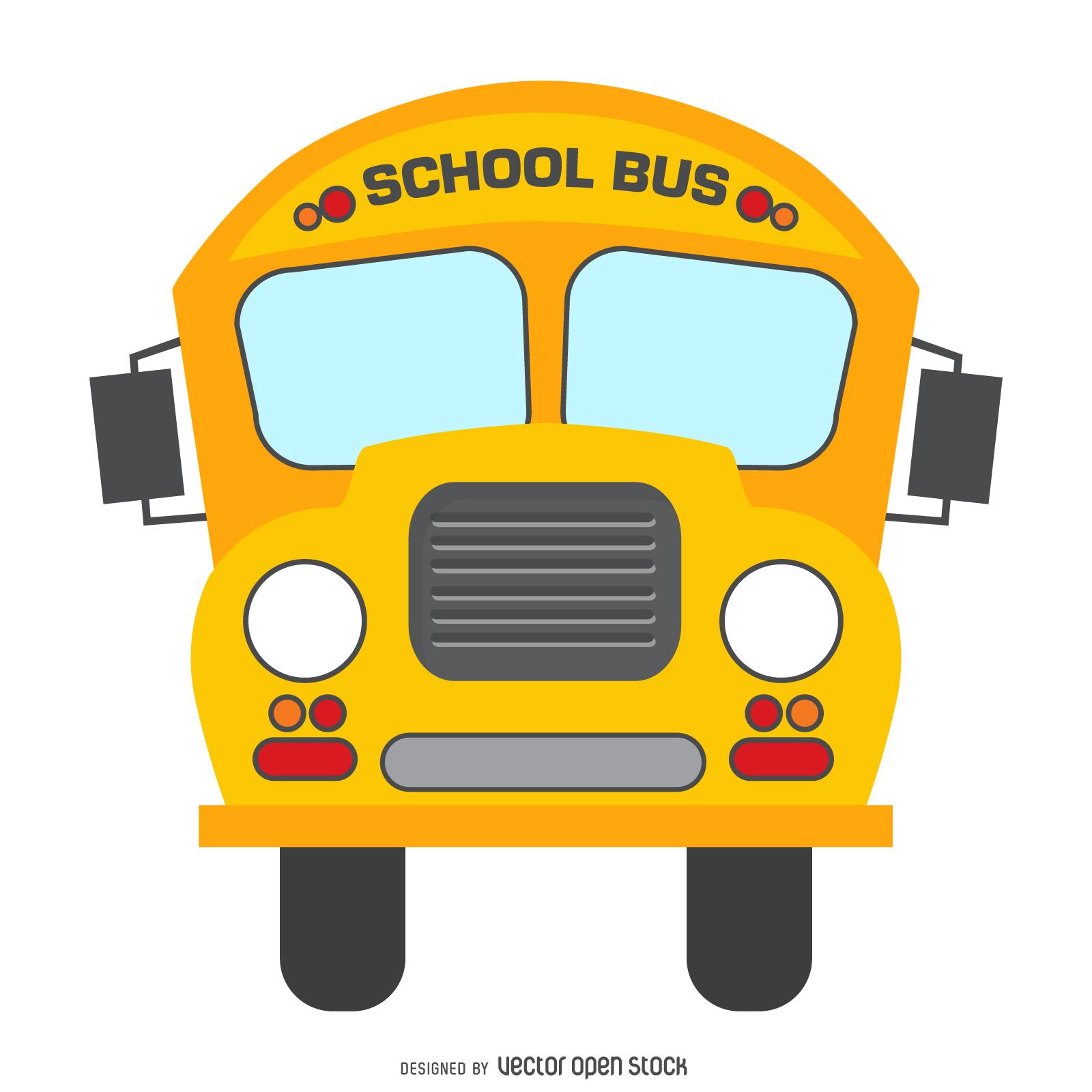 1600x1600 Isolated School Bus Cartoon