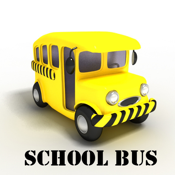 590x590 School Bus Cartoon By Ministar2104 3docean