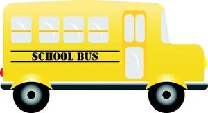 300x164 School Bus Clipart Image