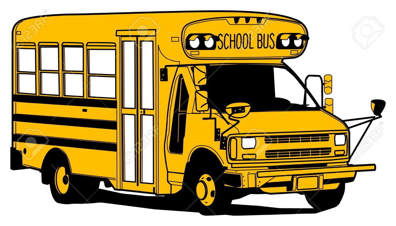 1300x742 School Bus Drawings Cartoons School Bus Cartoon Design