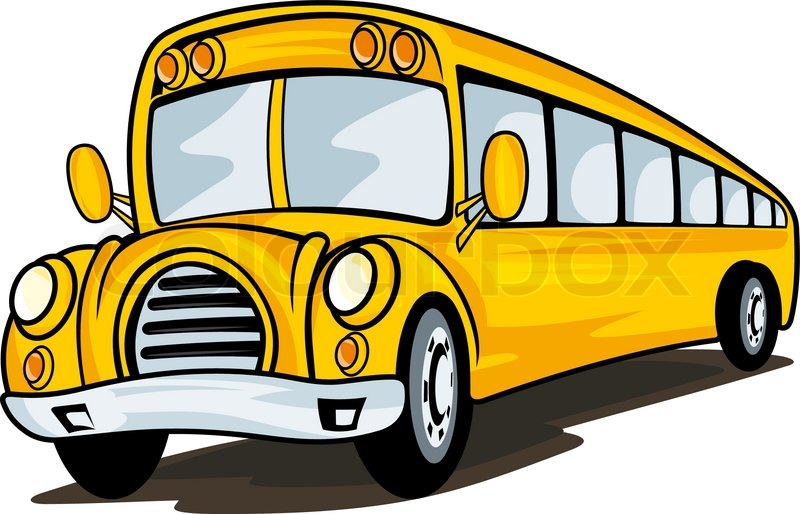 800x514 Yellow School Bus In Cartoon Style For Education Concept Design