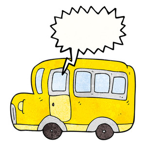 300x300 Freehand Drawn Cartoon Yellow School Bus Royalty Free Stock Image