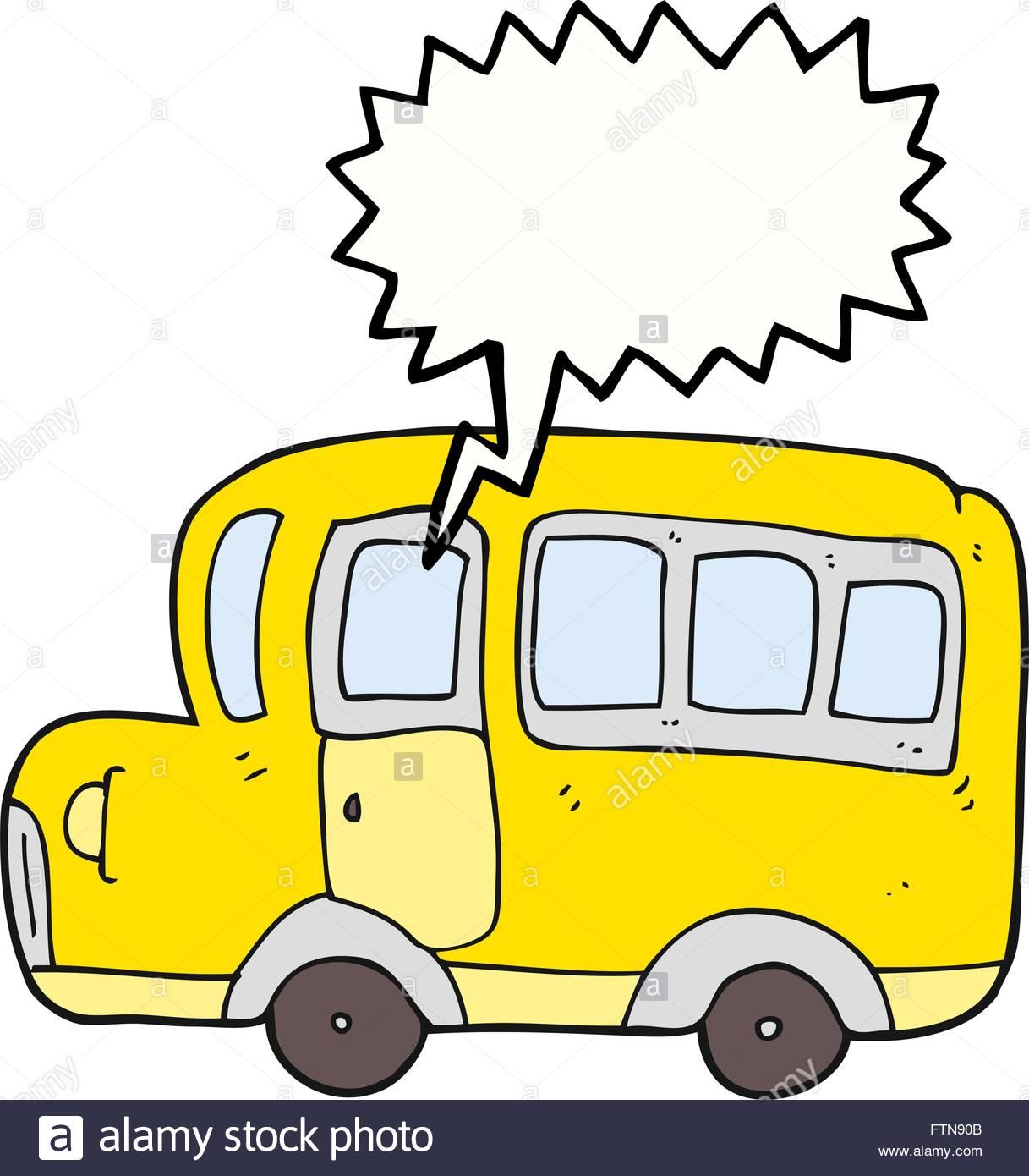 1217x1390 Freehand Drawn Speech Bubble Cartoon Yellow School Bus Stock